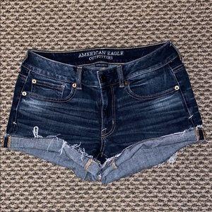 AE Dark Wash Shorts